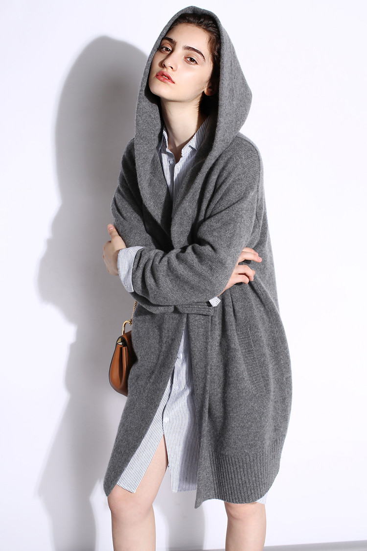 high grade goat cashmere add thick women's fashion hooded long ...