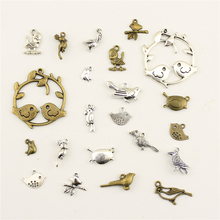Fashion Jewelry Making Animal Cute Bird Findings Components Mix Pendant