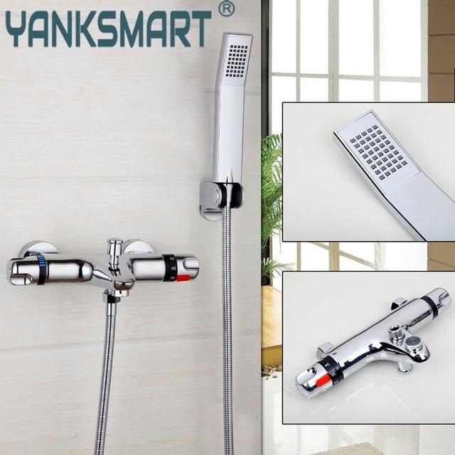 Yanksmart Wand Montiert Badezimmer Thermostat Armaturen Chrom