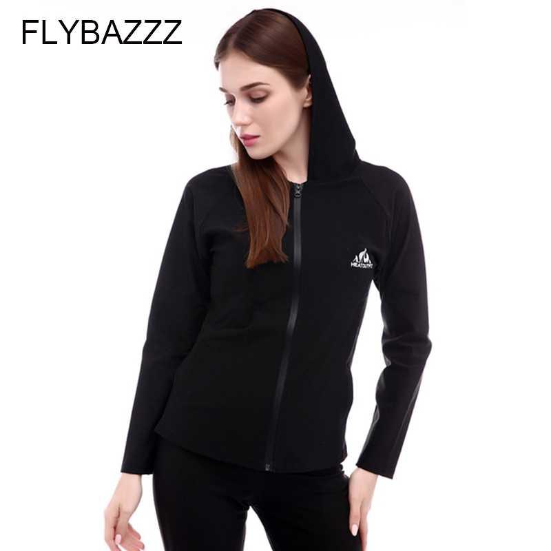 FLYBAZZZ Новый Для женщин Горячая Shaper неопрена Пот Сауна Куртки с длинными рукавами спортивные Фитнес горячее тело Shaper Корректирующее белье Slim футболка