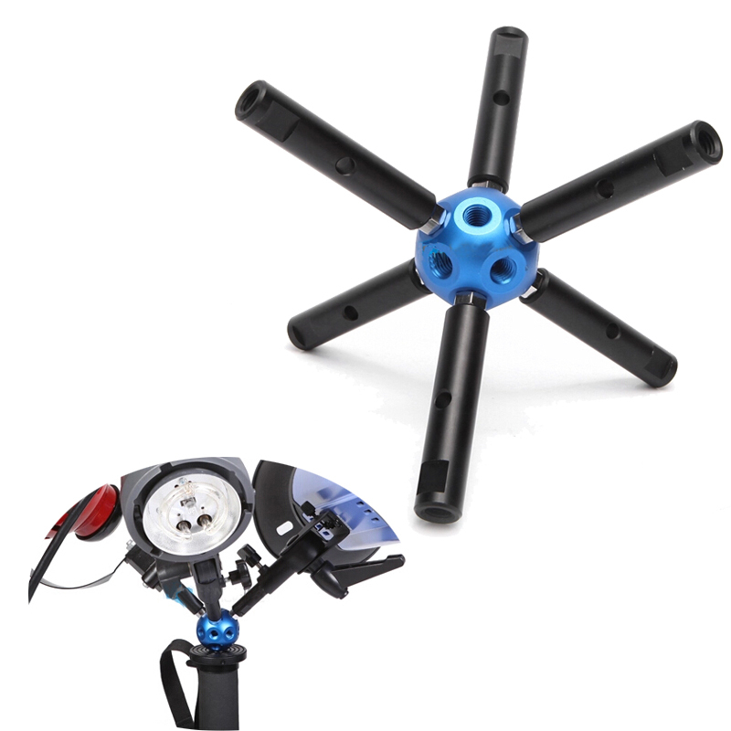 Multi Magic Ball Head Accessory Adapter Screw W/6 Rods for Video Camera Flash Light Stand Tripod Rig Microphone