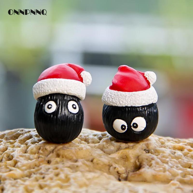 1ピーストトロブリケットクリスマス装飾愛好家スカーフ樹脂ミニチュア漫画動物妖精ガーデンミニチュア家の装飾