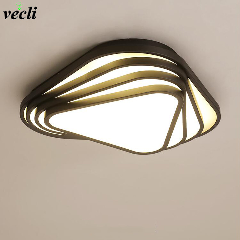 Simple modern led ceiling lamp Creative Nordic master bedroom living room luminaire Geometric lamps for children's rooms