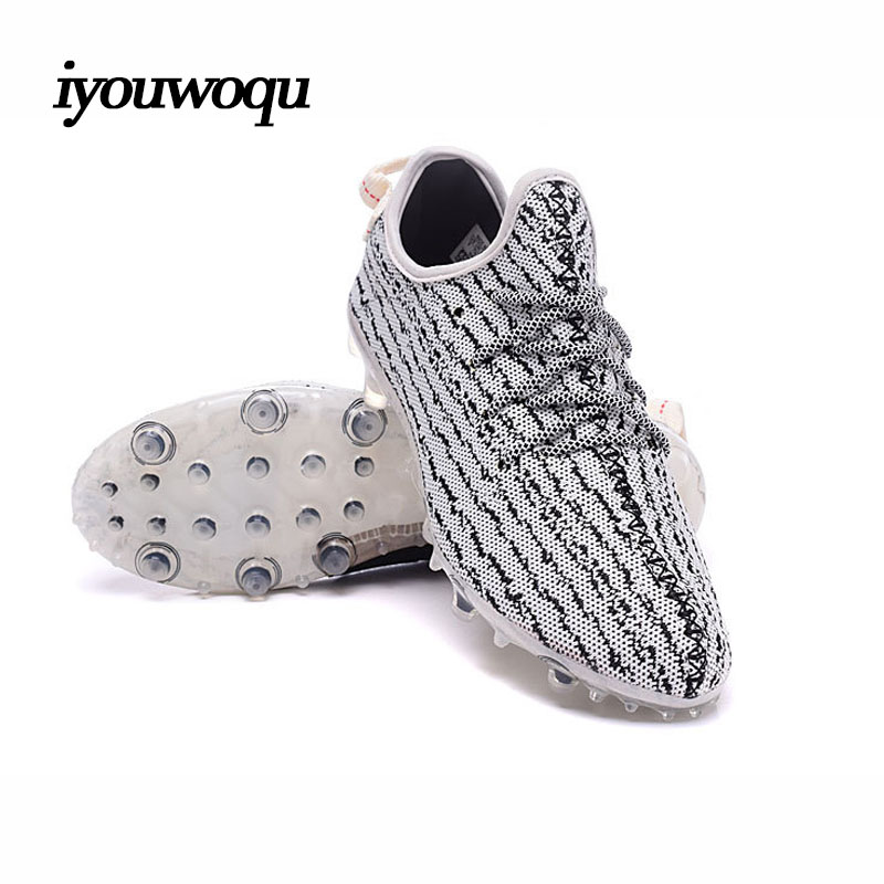 High Quality 2016 New design Football Shoes Men Outdoor Professional Football Training Yeezy Soccer Shoes Series Soccer shoes