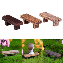 Figurine Fairy Wood Bench Decoration Miniature-Doll-House Animal-Models Diy-Accessories
