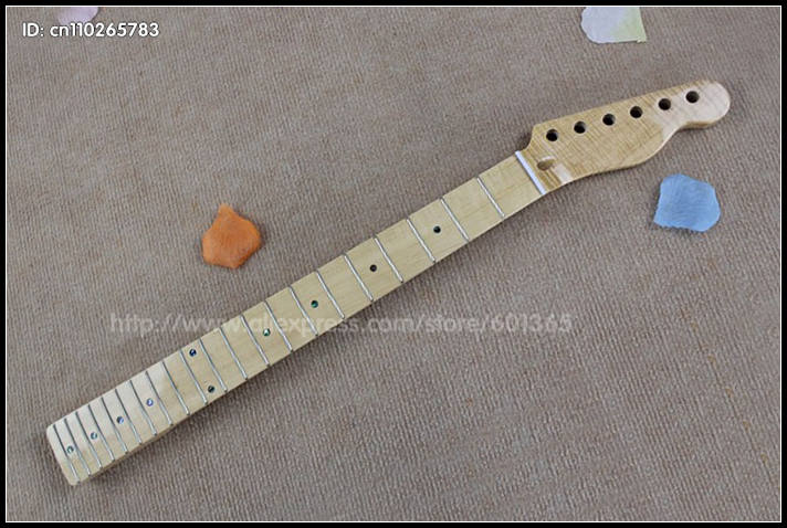 21 Frets Tiger Grain Maple Electric Guitar Neck electric guitar kit kits maple fingerboard Y02021 Frets Tiger Grain Maple Electric Guitar Neck electric guitar kit kits maple fingerboard Y020
