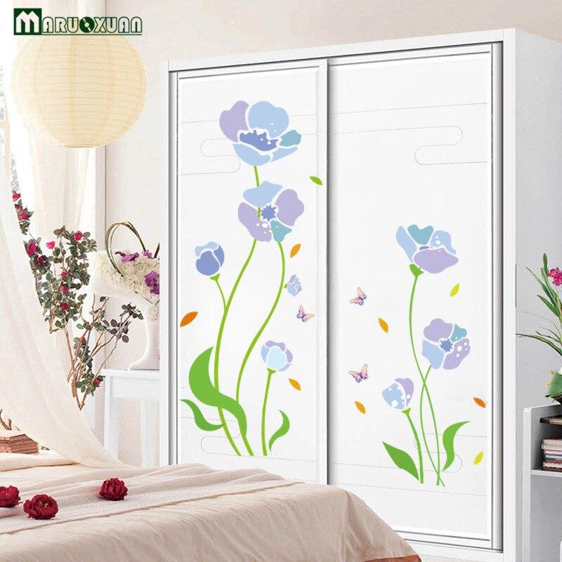 Yunxi flores coloridas planta adesivos portas de vidro for Adesivos p porta de vidro