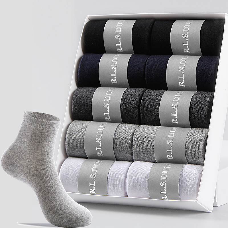 Mens Socks 100 Cotton New Style Autumn Winter Plus Size Keep Warm Socks Male 10 Pairs Business  Dress Long Socks Men For Gift