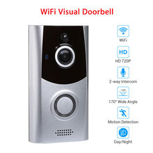 Wireless WiFi Doorbell With Camera 720P Visual Video Door Ring Home Se
