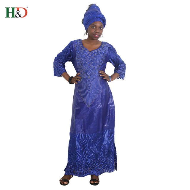 f16054e3f41 H & D robes africaines pour femmes bandeau robe africaine perles dentelle  bazin tenue robe africaine