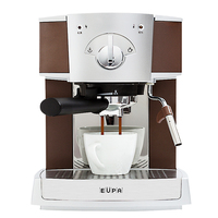 220V 15Bar Semi Automatic Espresso Coffee Maker Steam Milk Foam Coffee Machine Stainless Steel Froth Milk with 1.6L Tank