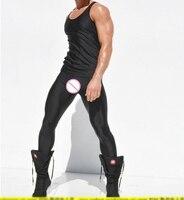 2017 Мужской Ультра Gloss эластичные брюки длиной до щиколотки Мужской провод Длина лодыжки Леггинсы мужской леггинсы носки