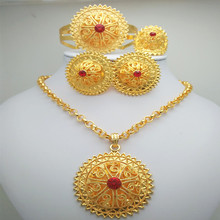 KINGDOM MA Nigerian Wedding African Beads Jewelry Set For Women Gold Color African Costume Jewelry Set Dubai Big Jewelry Sets 2016 new dubai gold plated jewelry sets 18k costume big jewelry set design nigerian wedding african beads jewelry sets of women