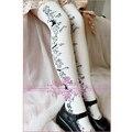 Princess sweet lolita stockings Cute black and white soft amo Alice rabbit bunny Japanese cotton stockings over-the-knee autumn