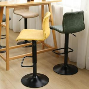 Bar chair lift rotating high stool Nordic modern minimalist home back tea shop front bar chair(China)