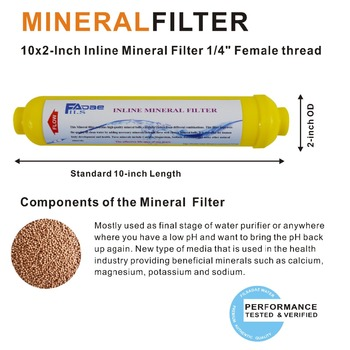 Upgrade Any RO Reverse Osmosis With Minerals Inline Filter / Re-Mineralization Replacement Filters, 2