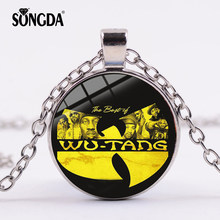 SONGDA New Wu Tang Clan Band Logo Necklace Famous HIP-HOP Rap Music Band Handmade Glass Cabochon Pendant for Fans Jewelry Gifts(China)