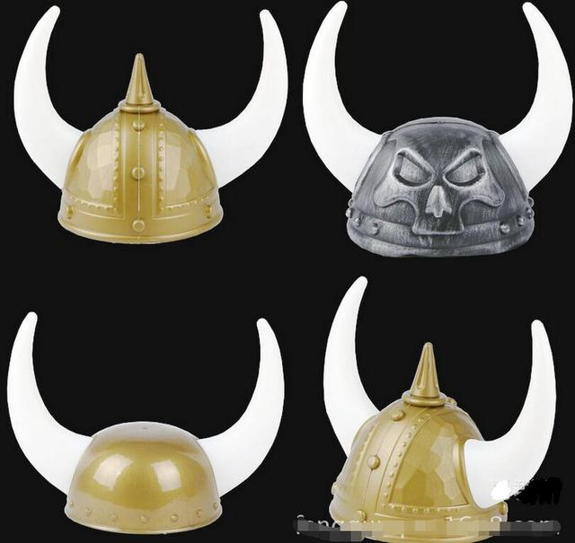 2017 Free shipping New Adult Plastic Crazy cheap viking helmet with horns  halloween party hat with horns for costume accessory dfb567eec