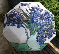 Painting Umbrella Oil Painting Umbrella Traditional Chinese Painting 3 Fold Umbrella Flower De Luce