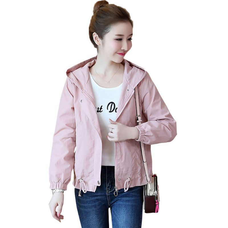 Spring Autumn   Basic     Jacket   Women Casual Hooded Long Sleeve Coat Women Harajuku Plus Size 3XL   Jacket   Streetwear Ladies Tops Q1157