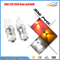 Free shipping 2pcs NEW!! 7440 7443/T20 Canbus No Error 30W Cree Chips AMBER LED TURN SIGNAL BRAKE TAIL LIGHTS PROJECTOR BULBS