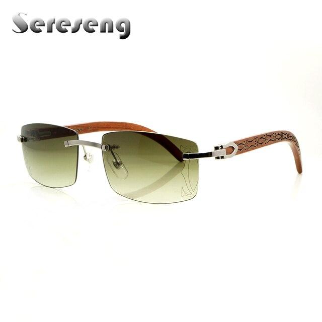 Carter Sunglasses Men Wood Sunglasses Rimless Gold Wood Glasses Frames Women Luxury 3524012 Wood Sun Glasses Men Carter Glasses
