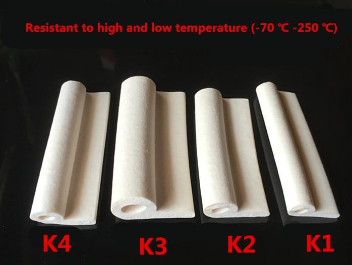 Silicone Foam 9 Note High Temperature Sealed Strip Oven Seal Silicone Sponge P Type Of High Temperature Foam Rubber Sponge