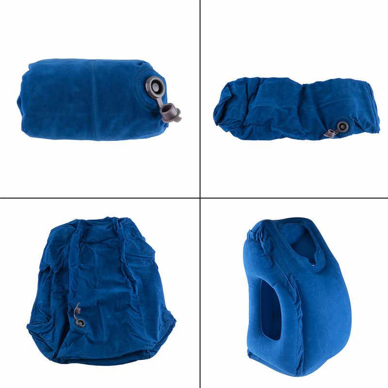 旅行枕インフレータブル枕エアソフトクッション出張ポータブル革新的な製品サポート折りたたみブローネック枕