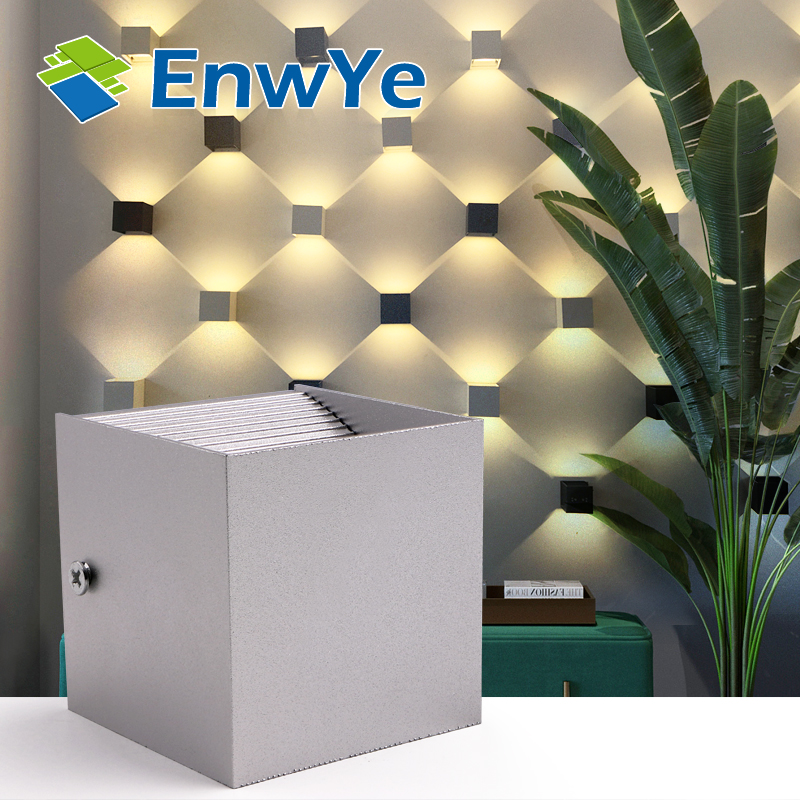 EnwYe 12W LED Aluminium wall light rail project Square AC 85V 110V 220V 265V LED wall lamp bedside room bedroom wall lamps arts cross star lighting alloy aluminium wall light lamps 12w ac 85v 265v corridor aisle light hotel led spotlight bar ktv decor