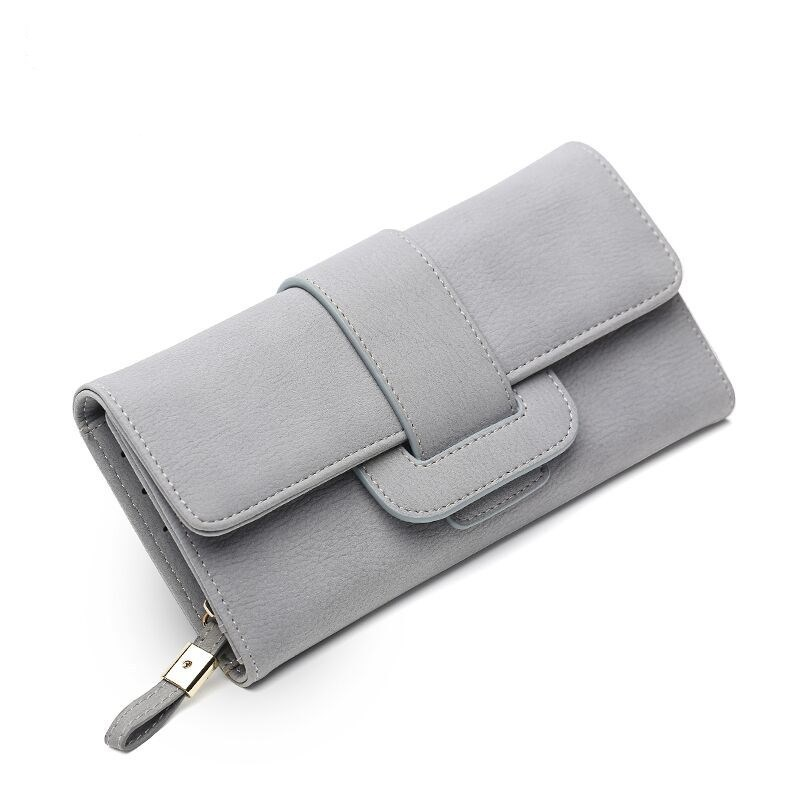 2020 Quality Casual Solid Long Female Purses PU Leather Hasp Coin Card Holder Matte Soft Women Wallet Credit Card Handbag Wallet