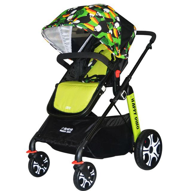 Widen Sede da forma Dos Desenhos Animados de Alta Paisagem Carrinho de Bebê Dobrável Portátil À Prova de Choque de Carro Do Bebê Carrinhos para Recém-nascidos 0-3 anos velho C01