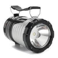 Più nuovo-in-Escursione di Campeggio Portatile Lanterna Solare Ricaricabile AAA Tenda Lampada LED Luci Palmare Lampadine A LED Torcia Della Torcia Elettrica