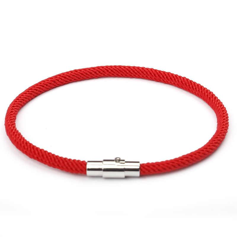 NIUYITID الخيط الأحمر سوار النساء الرجال الفضة اللون المغناطيسي مشبك سحر الفتاة هدية مجوهرات الجملة سعر pulsera روجا