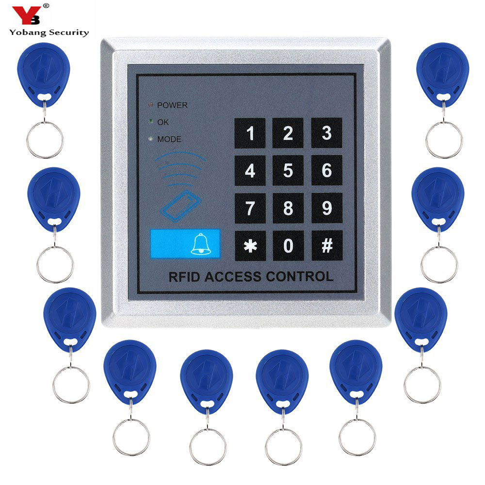 Yobang Security RFID Lock with Door Lock Device Machine Security Proximity Entry Access Control System 500 User +10 RFID KeyfobsYobang Security RFID Lock with Door Lock Device Machine Security Proximity Entry Access Control System 500 User +10 RFID Keyfobs