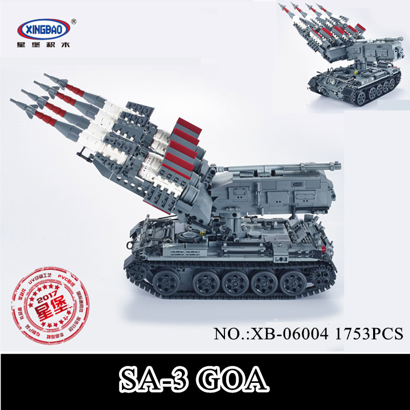 IN STOCK XINGBAO 06004 1753Pcs Military Series The SA-3 missile and T55 Tank Set Educational Building Blocks Bricks Toys GiftIN STOCK XINGBAO 06004 1753Pcs Military Series The SA-3 missile and T55 Tank Set Educational Building Blocks Bricks Toys Gift