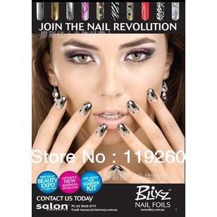 Free Shipping nail polish sticker/metal nail stickers/manicure nail sticker