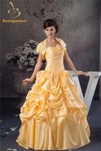 Женское бальное платье с бантом из тафты кристаллами