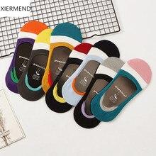 10 piezas = 5 pares nuevos calcetines de silicona invisibles antideslizantes para mujer Calcetines de verano, agradable zapatillas calcetín