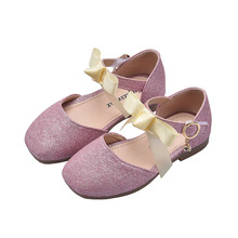 Gold Sliver pink Childrens Kids princess shoes bowknot Rhinestones Baby Girls Sandals Dance Wedding Party Shoes 3-14T