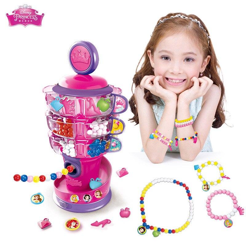 Disney enfants de perles machine diy Collier fait main bracelet bijoux perles portant puzzle fille jouets créatifs