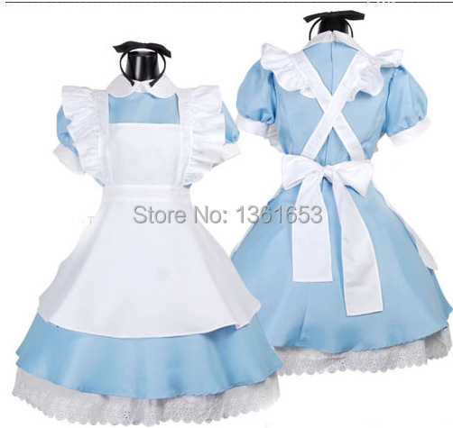 Alice in Wonderland cosplay Maid uniform cosplay halloween costumes for women fantasia halloween party clothese cos costumes