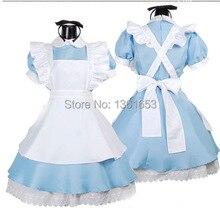 Alice en de las maravillas cosplay uniforme de mucama cosplay disfraces de halloween para mujeres fantasia halloween party clothese cos trajes