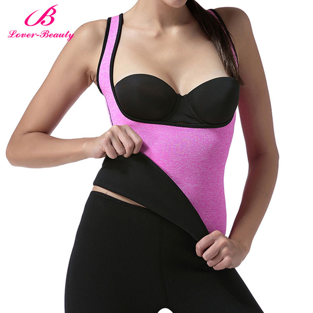 21ca67942b703 Lover Beauty 2018 Women Hot Neoprene Body Shapers Slimming Waist Trainer  Slim Vest Underbust Plus Size Hot Shapers Bodysuit-C