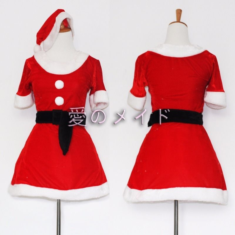 2017 New Unique Santa Claus Christmas Holiday Costume Cosplay Girls Xmas Outfit Party