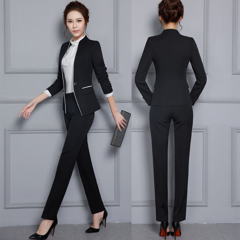 Gray Skirt Suit Women 2018 Hot Suits Spring Business Formal Office Work Elegant Blazer Feminino In From S