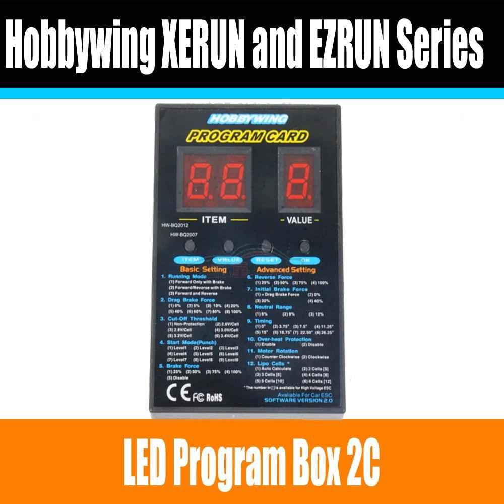 Hobbywing RC Car Program Card LED Program Box 2C 86020010 Programm Card For Hobbywing XERUN and EZRUN Series Car Brushless ESC