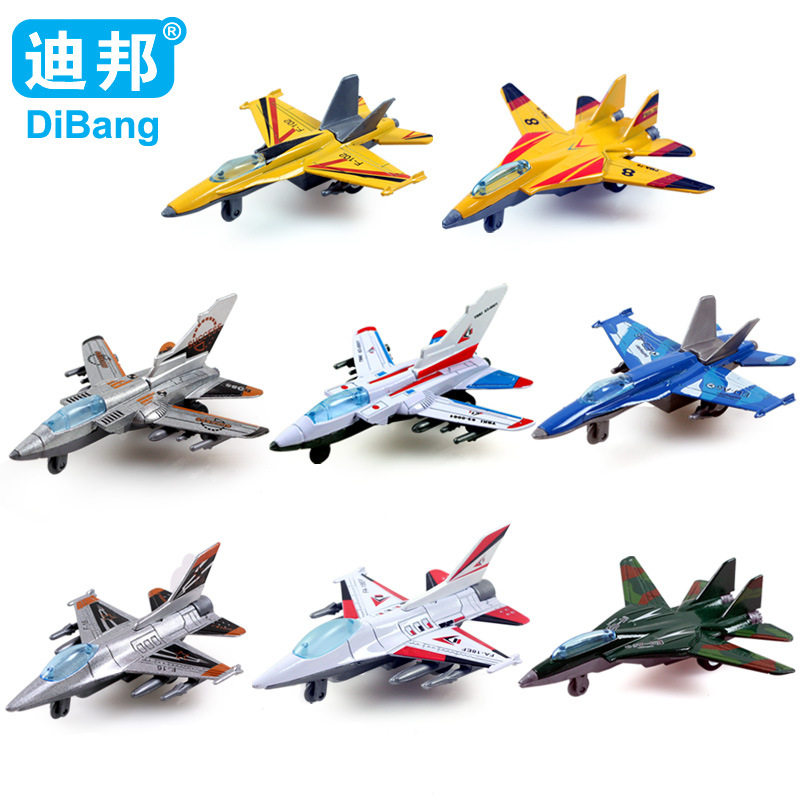 HOT ! F16 <font><b>F18</b></font> ED-A6 alloy combat aircraft Military aviation model Pull Back Combat aircraft Fighter plane toys Gift for children image
