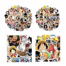 60 Pcs/Lot Anime 2018 ONE PIECE Luffy Stickers For Car Laptop PVC Backpack Home Decal Pad Bicycle waterproof Decal figure toy(China)