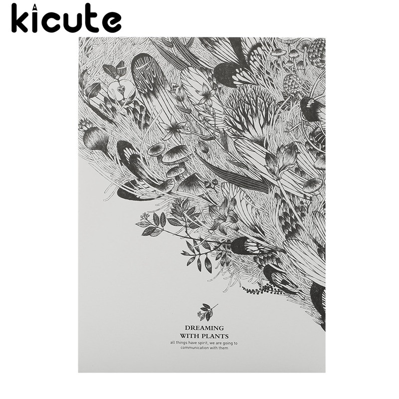 Kicute 1pc Art Thick Blank Paper Sketchbook Drawing Book for Drawing Painting Sketch Scrawl Student Stationery Pattern Random objective ielts advanced student s book with cd rom
