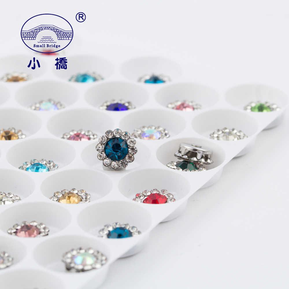 Mix Farbe Flatback Strass Für Nähen Kleidung Blume Form Lose Dekorative Strass Diy Handwerk Glas Nähen Auf Steine S138